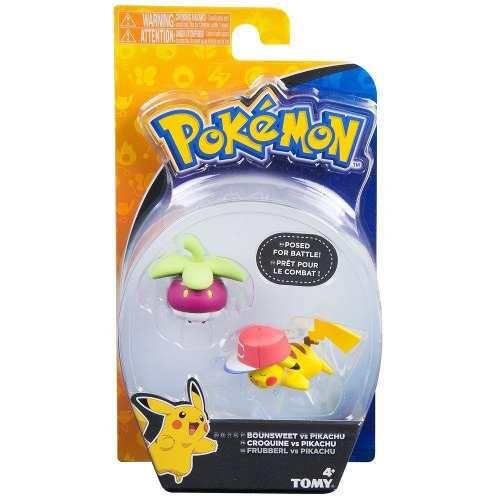 Boneco Pokemon - Figura De Ação - Bounsweet Vs Pikachu - Tomy