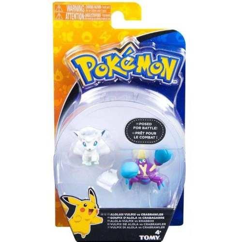 Boneco Pokemon - Figura De Ação - Alola Vulpix Vs Crabrawler