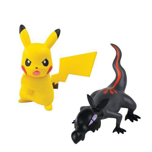 Boneco Pokemon - Figura De Ação - Salandit Vs Pikachu - Tomy