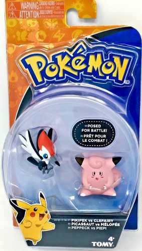 Boneco Pokemon - Figura De Ação - Pikipek Vs Clefairy - Tomy