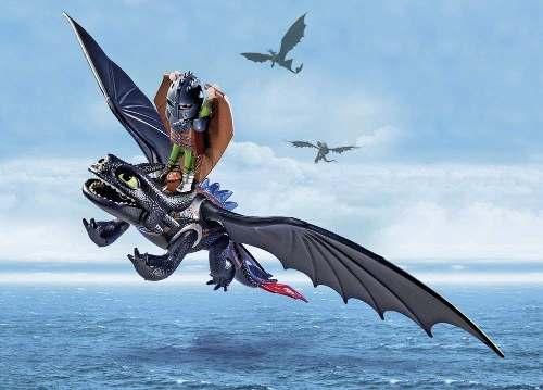 Playmobil - Como Treinar Seu Dragão - Soluço E Banguela - 16pc