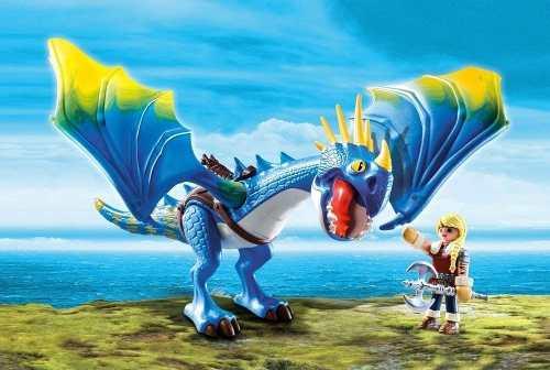 Playmobil - Como Treinar Seu Dragão - Astrid E Tempestade - 11 peças