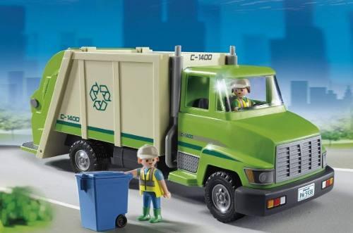 Playmobil - Caminhão De Reciclagem - 27 Peças - Original