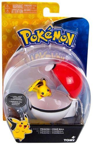 Pokemon - Clip Carry - Pikachu + Pokebola - Tomy Original