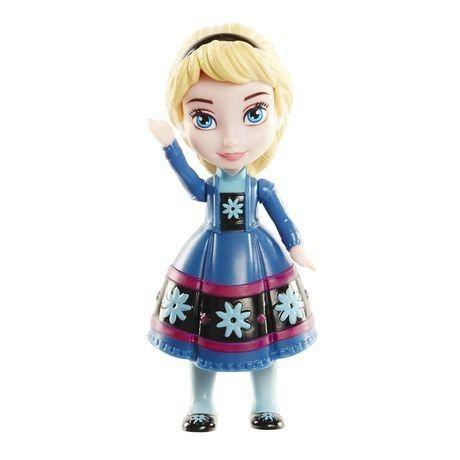 Mini Boneca - Frozen Da Disney - Elsa Com Vestido Azul/preto