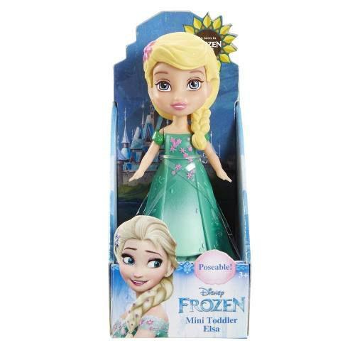 - Mini Boneca - Frozen Da Disney - Elsa Com Vestido Verde