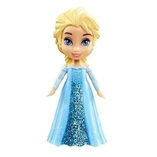 Mini Boneca - Frozen Da Disney - Elsa Com Vestido Azul