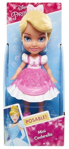 Mini Boneca Princesas Da Disney - Cinderella Vestido Rosa