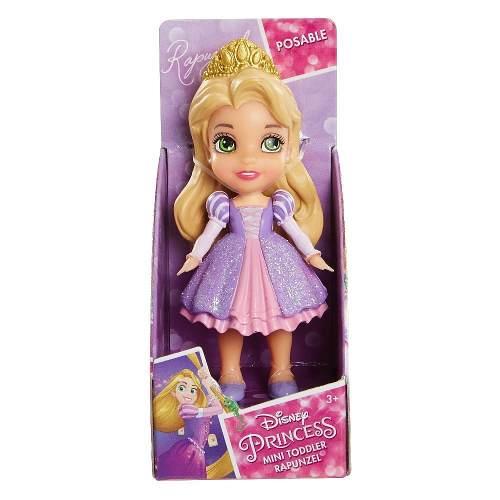 Mini Boneca Princesas Da Disney - Rapunzel Com Vestido Roxo