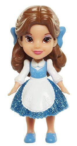 Mini Boneca Princesas Da Disney - Bela Vestido Azul - Sunny
