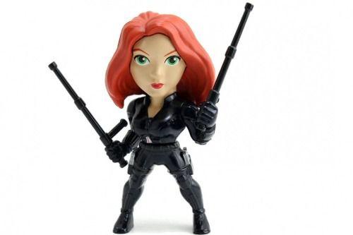 Boneca Viúva Negra ( Black Widow) - Capitão America - Metals Die Cast