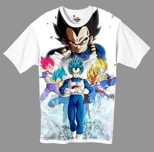 Camiseta Anime - Dragon Ball - Vegeta Blue, God, Normal Etc