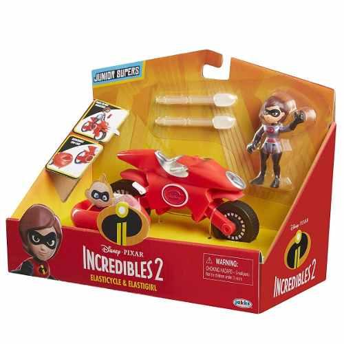 Os Incríveis 2 - Boneca Mulher Elástica E Moto - Disney Pixar