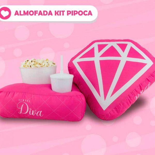 Almofada Kit Pipoca - Diva Diamante Rosa - Toybrink 0604