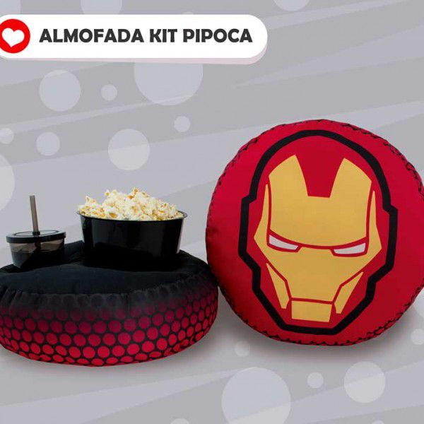 Almofada Kit Pipoca - Homem de Ferro - Ironman - Toybrink