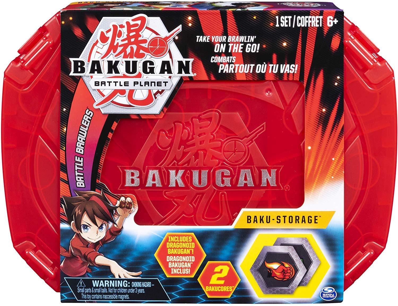 Bakugan - Case  Estojo Vermelho - Bakugan Exclusivo - Sunny
