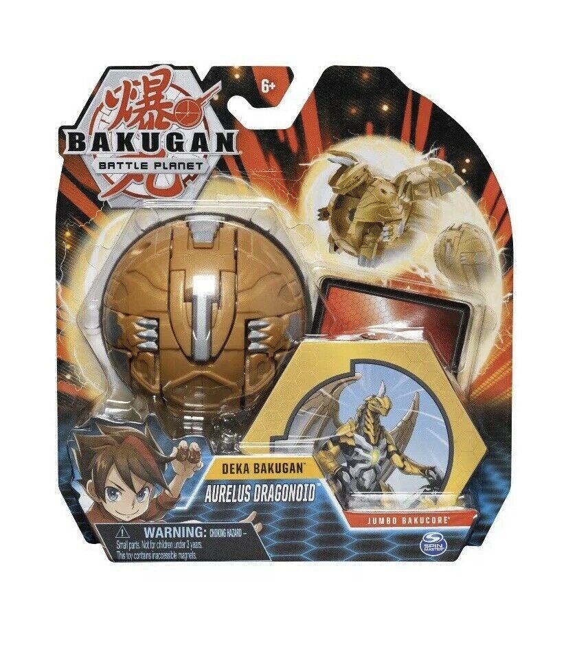 Bakugan Gigante com Card- Aurelus Dragonoid - Bakucore Jumbo Sunny Original