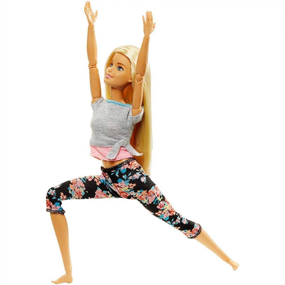 Boneca Barbie Made To Move - Loira - Mattel FTG80