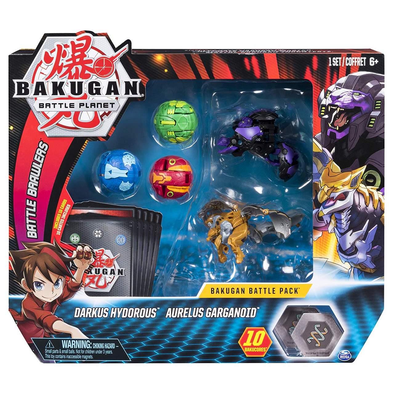 Batalha Bakugan Darkus Hydorous & Aurelus Gargarnoid - Sunny