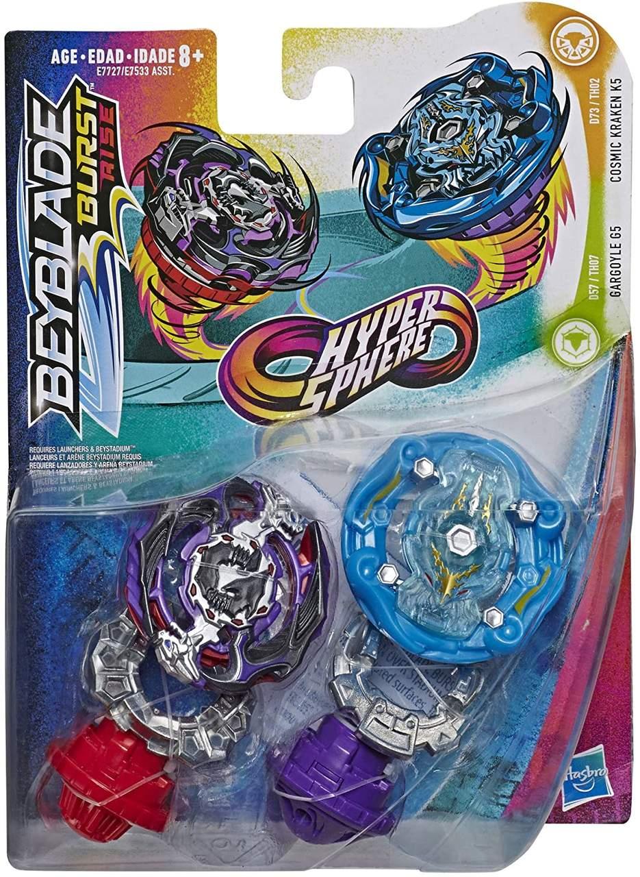 Beyblade Burst Rise - Hyper Sphere - Pack com 2 G5 / K5- Hasbro