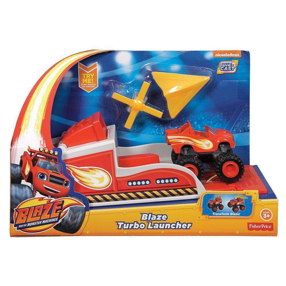 Blaze Turbo Lançador - Blaze Monster Machines - Fisher-Price