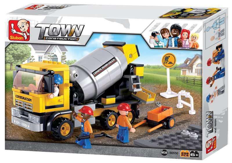 Blocos de Montar Caminhão Betoneira em Obras - 248 Peças - Multikids