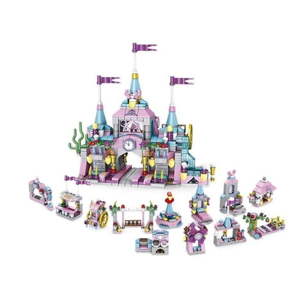Blocos De Montar Cubic Castle-  Castelo Princesa 12 em 1 - 572 pecas - Multikids