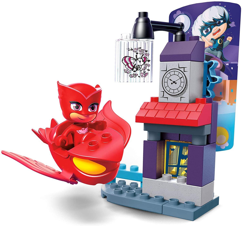PJ Masks Heróis Pijama Corujita Vs Garota Lunar Mega Bloks