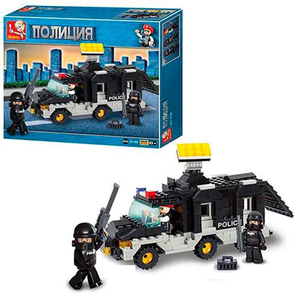 Blocos de Montar Polícia Carro de Comando - 206 Peças - Multikids