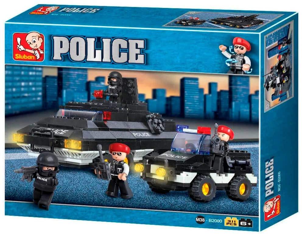 Blocos de Montar Polícia Tanque de Guerra - 311 Peças - Multikids