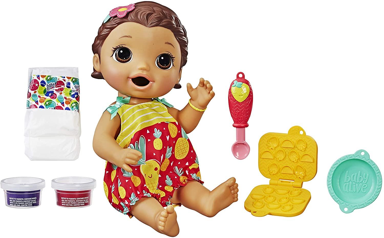 Boneca Baby Alive - Lanchinhos Divertidos Morena - Hasbro