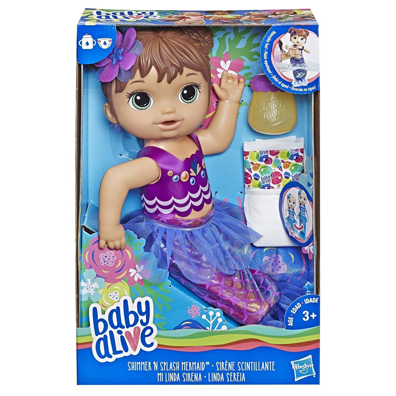 Boneca Baby Alive Linda Sereia Morena - Hasbro Original E3691