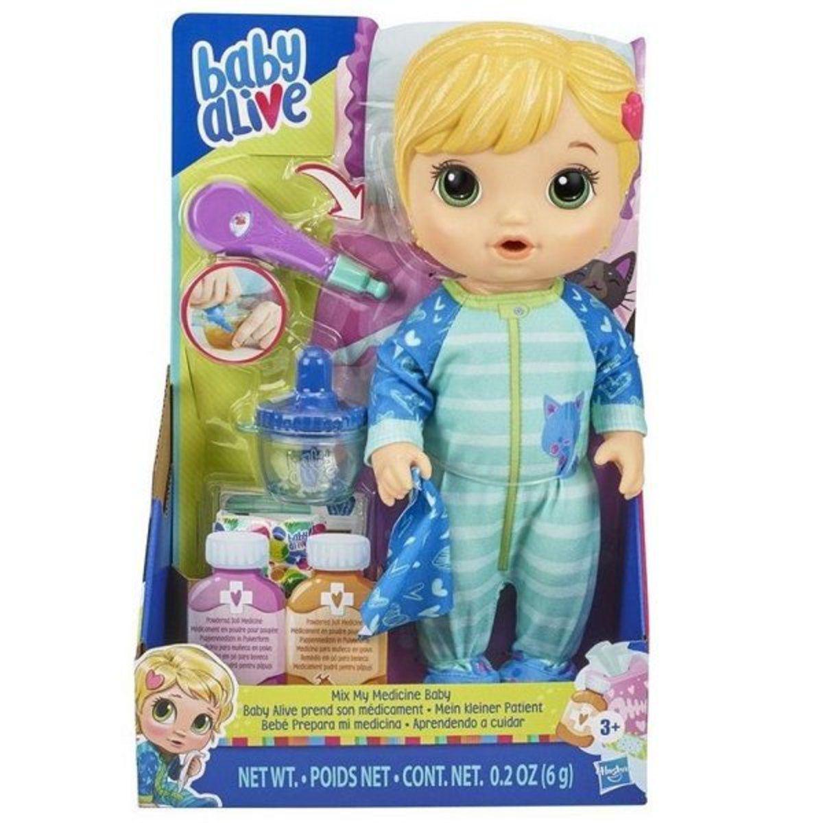 Boneca Baby Alive Loira - Medicine Baby - Hasbro Original E6937