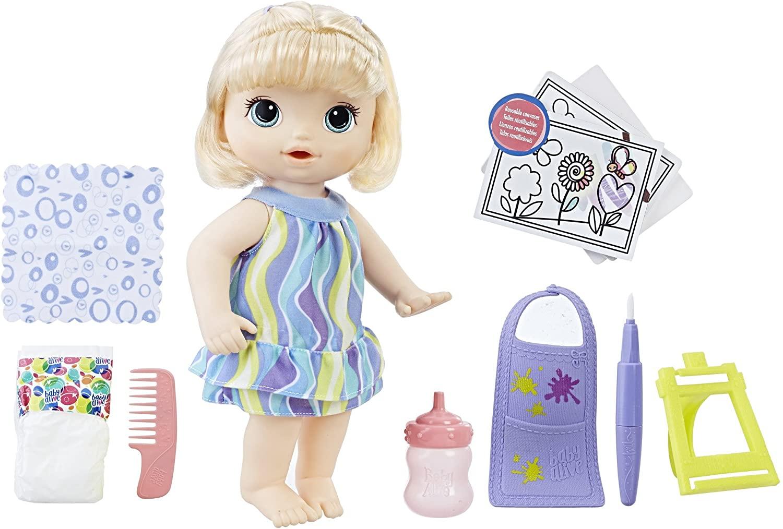 Boneca Baby Alive Loira - Pequena Artista - Hasbro Original