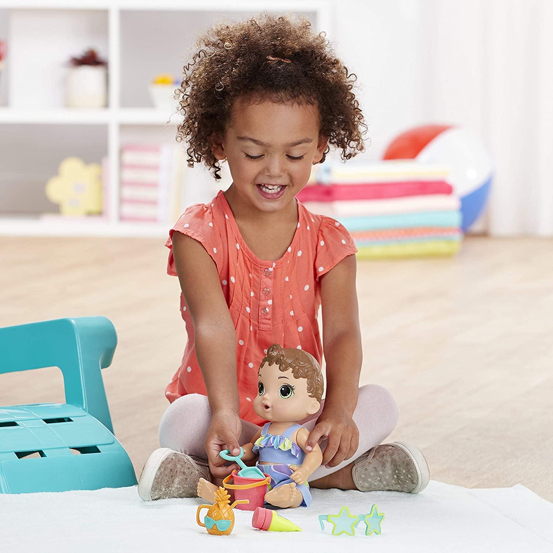 Boneca Baby Alive Morena - Bebê Sol e Areia Hasbro Original