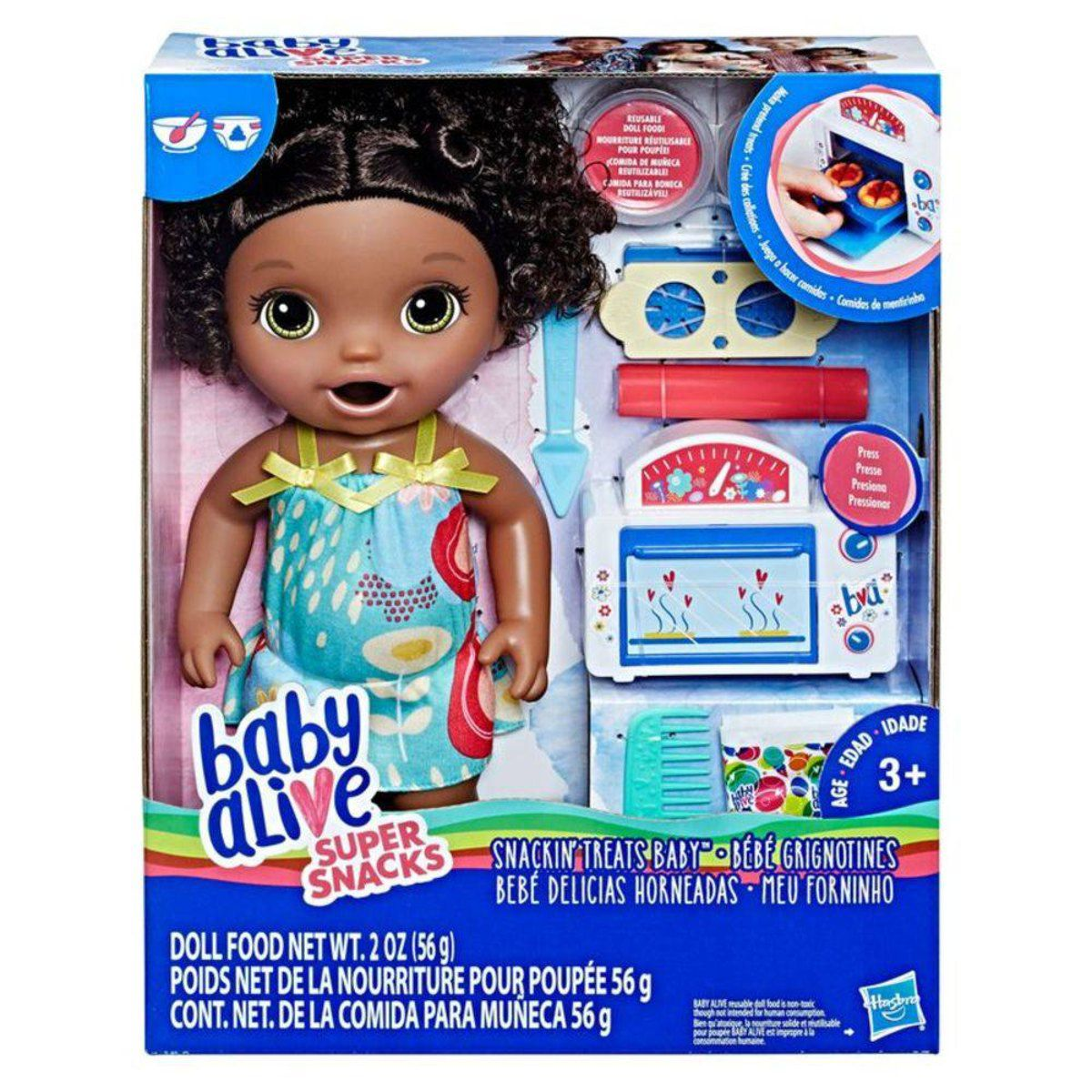 Boneca Baby Alive Negra - Meu Forninho - Hasbro Original E2099