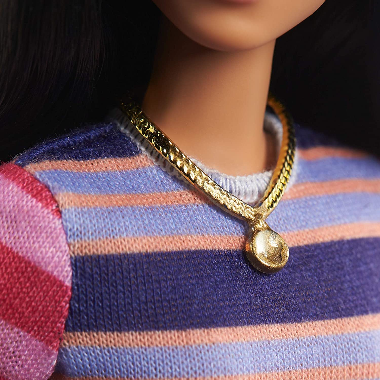 Boneca Barbie Fashionistas - Vestido Listrado - Mattel FBR37