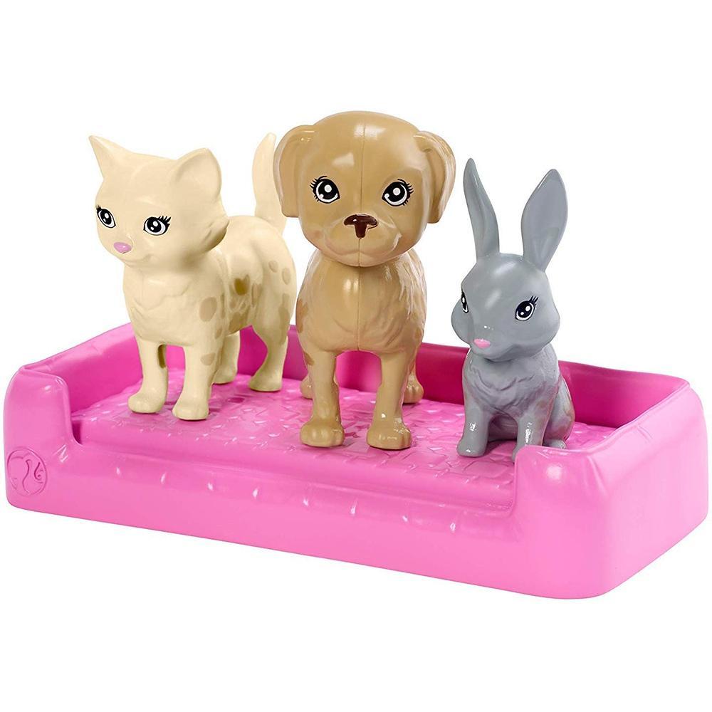 Boneca Barbie - Banho Pets - Com Cachorrinhos - Mattel FXH11