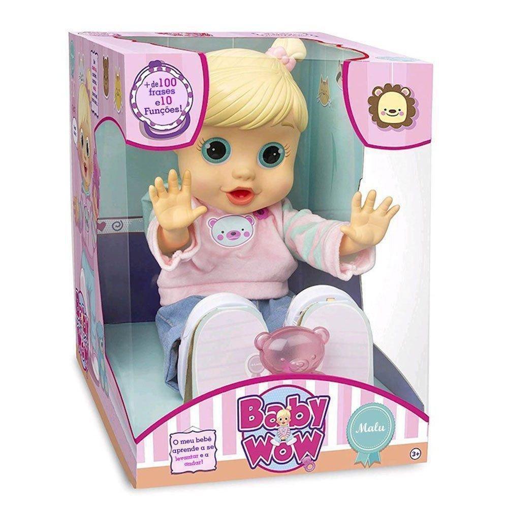 Boneca Malu Fala e Anda  - Baby Wow - Multikids