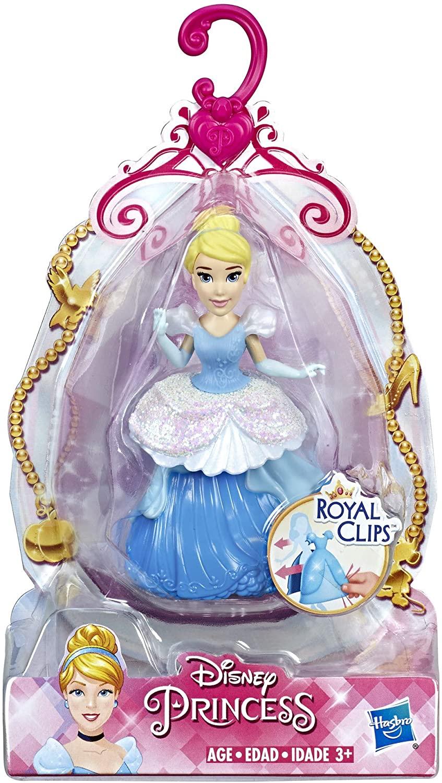 Boneca Mini Princesa Cinderela - Royal Clips - Hasbro E3049