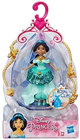 Boneca Mini Princesa Jasmine - Royal Clips - Hasbro E3049