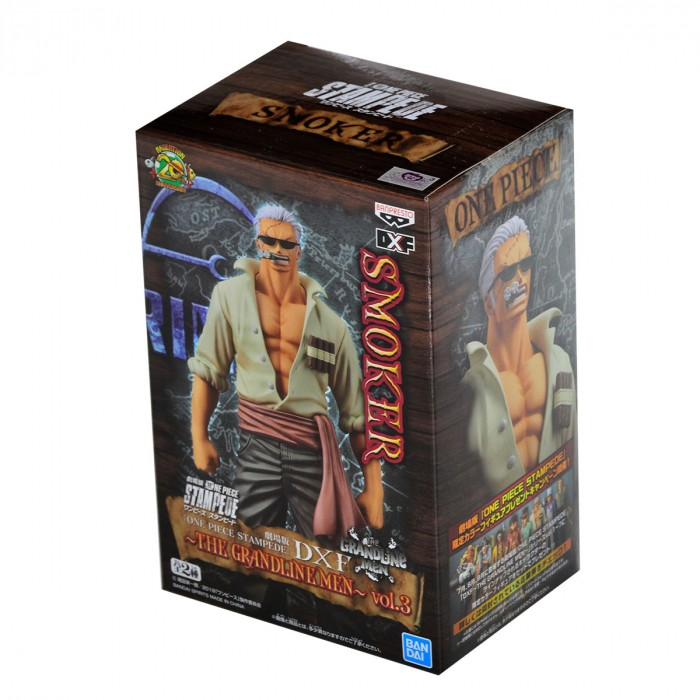 Boneco One Piece - Smoker 17cm The Grandline Men - Banpresto