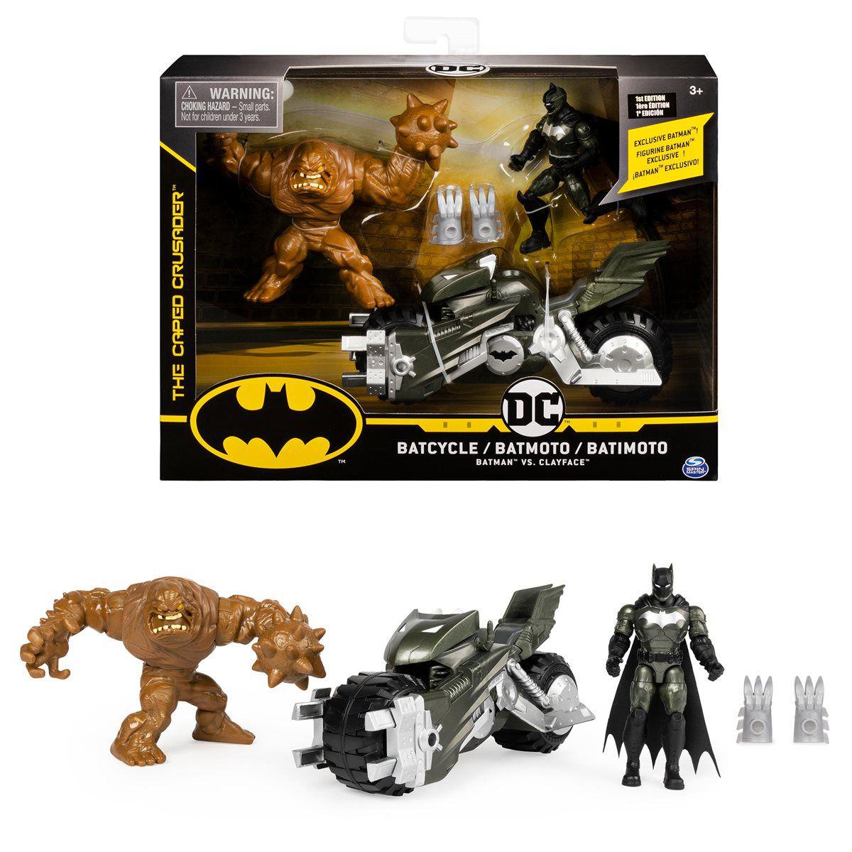 Boneco Batman Dc - Batimoto - Batman VS Clayface - Spin Master