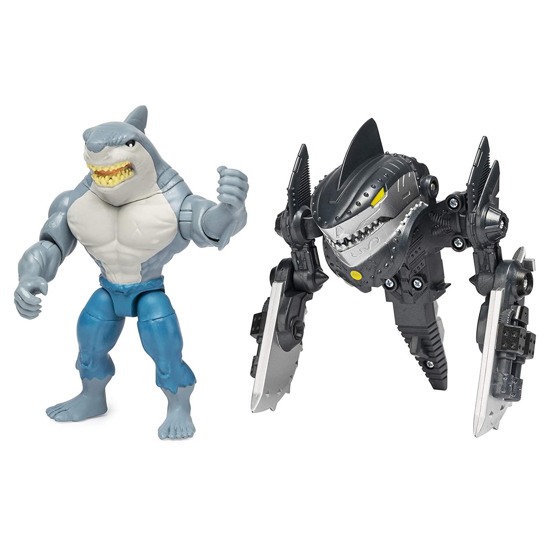 Boneco Batman Dc King Shark Transformando a Armadura - Spin Master