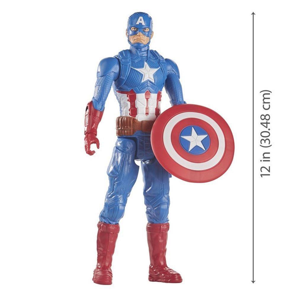 Boneco Captain America Marvel Avengers Titan Hero Series