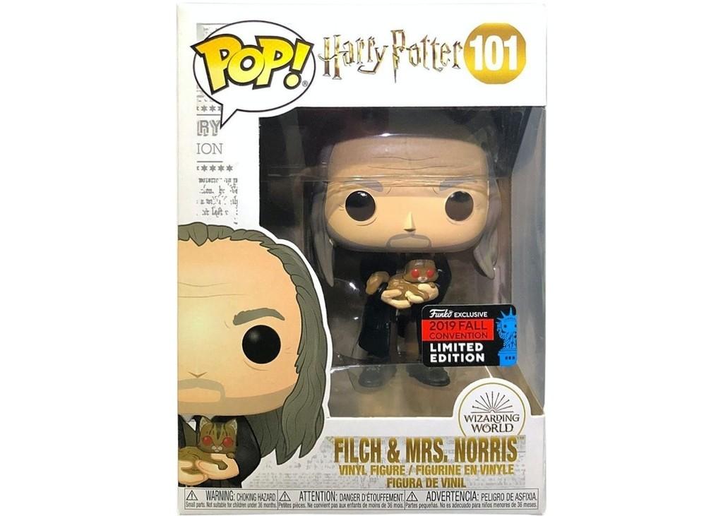 Boneco Funko Pop - Filch e Mrs 101 - Harry Potter - Original