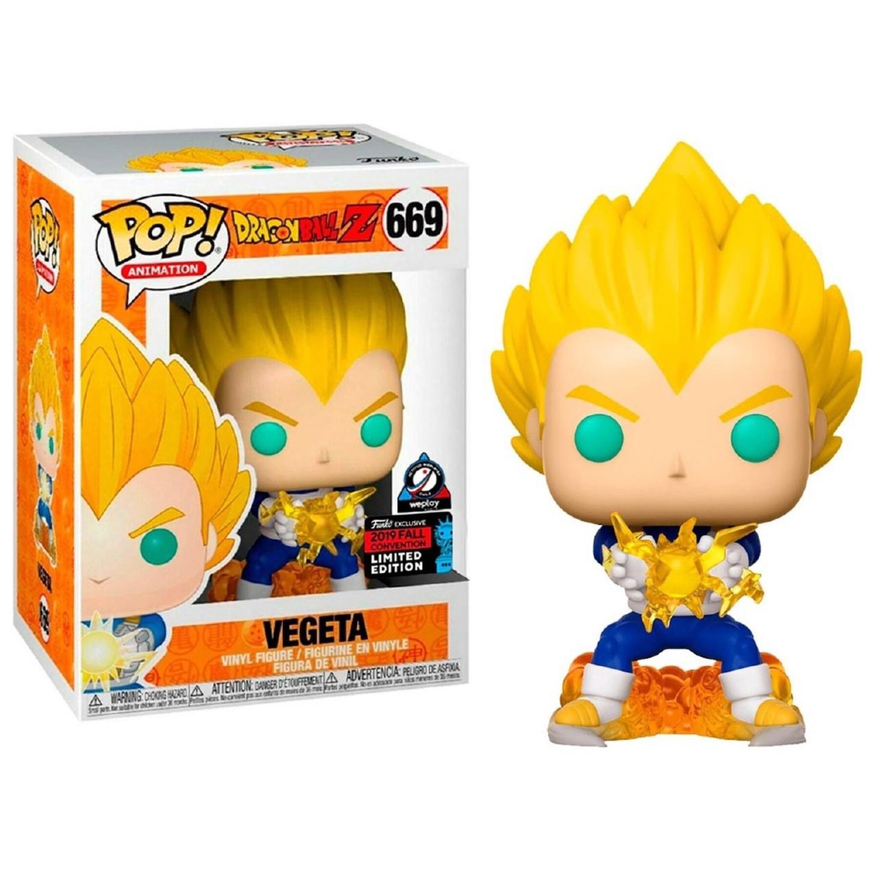 Boneco Funko Pop Vegeta Final Flash 669 Dragon Ball Limited