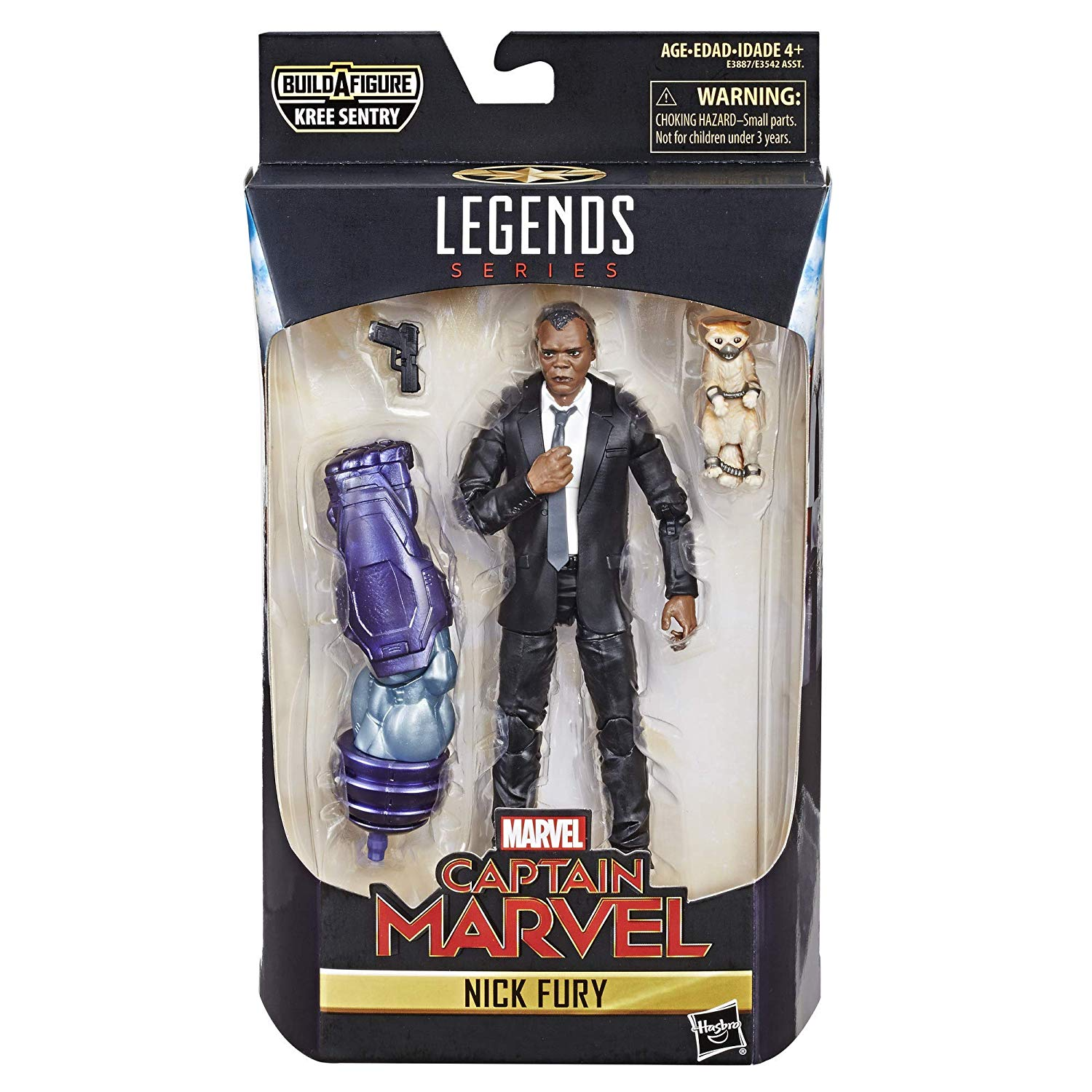 Boneco Marvel Legends - Captain Marvel Nick Fury  - Hasbro