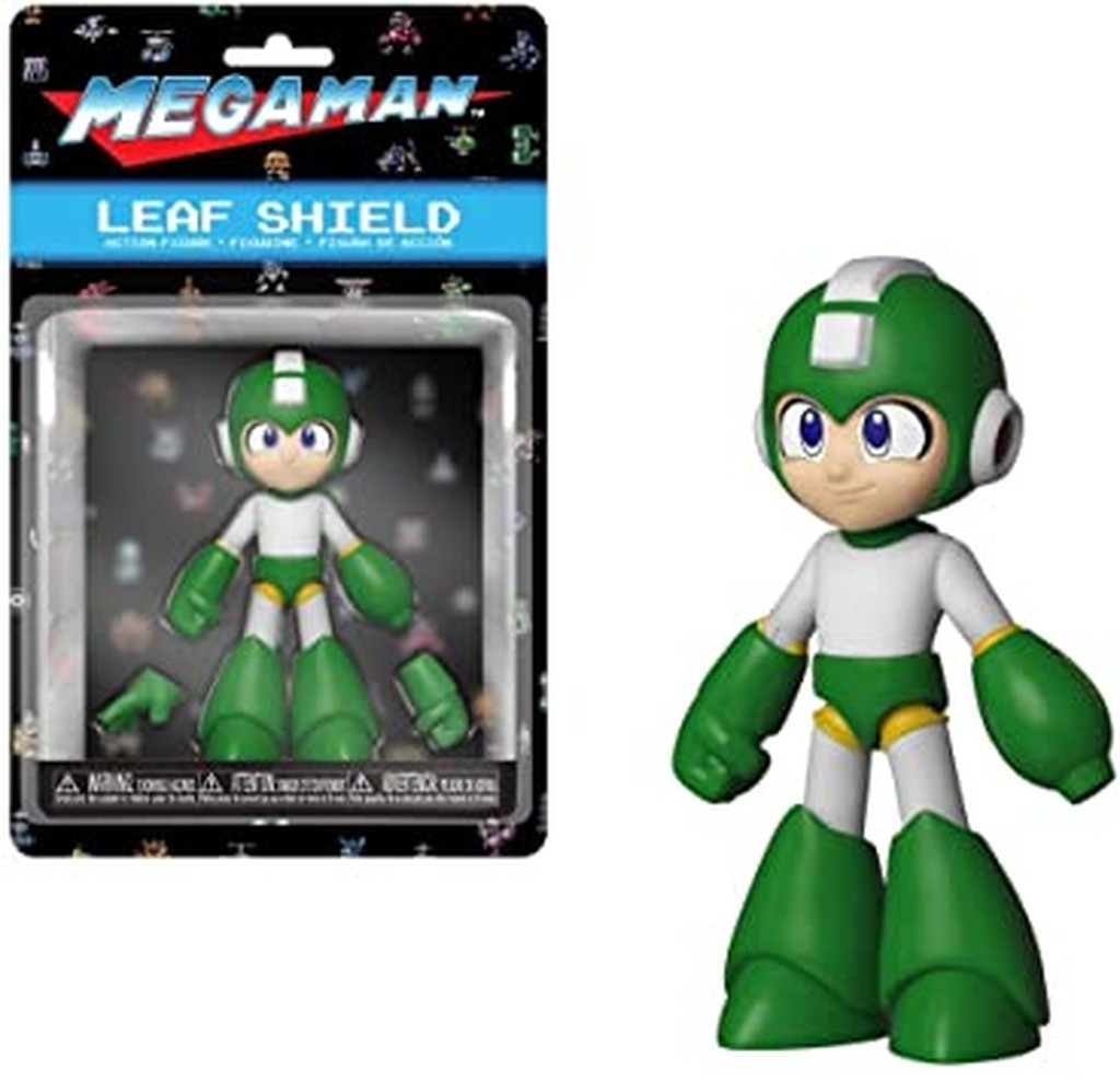 Boneco Megaman Leaf Shild 11cm - Figura Funko - Original