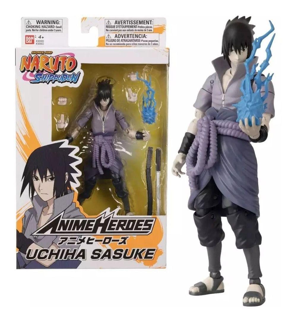 Boneco Naruto Shippuden Anime Heroes - Uchiha Sasuke - Bandai